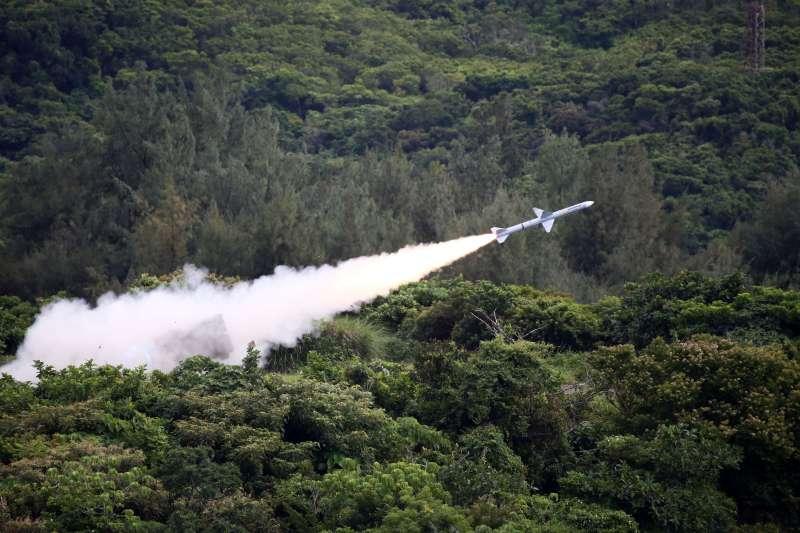 20190802-陸基麻雀飛彈。(國防部提供)