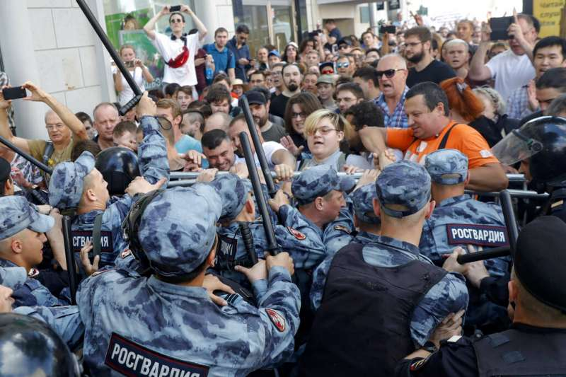 儘管當局以監禁、控告等方式阻嚇民眾上街遊行,但反對黨仍號召群眾在8月3日自主遊行。(美聯社)