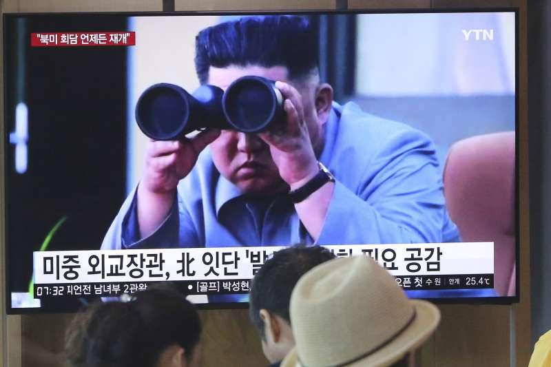 北韓領導人金正恩。(AP)