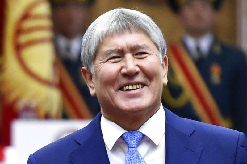 吉爾吉斯前總統阿坦巴耶夫。(美聯社)