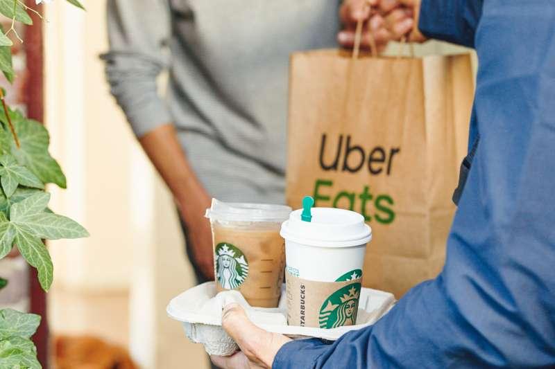 Uber的餐飲外送服務Uber Eats(AP)