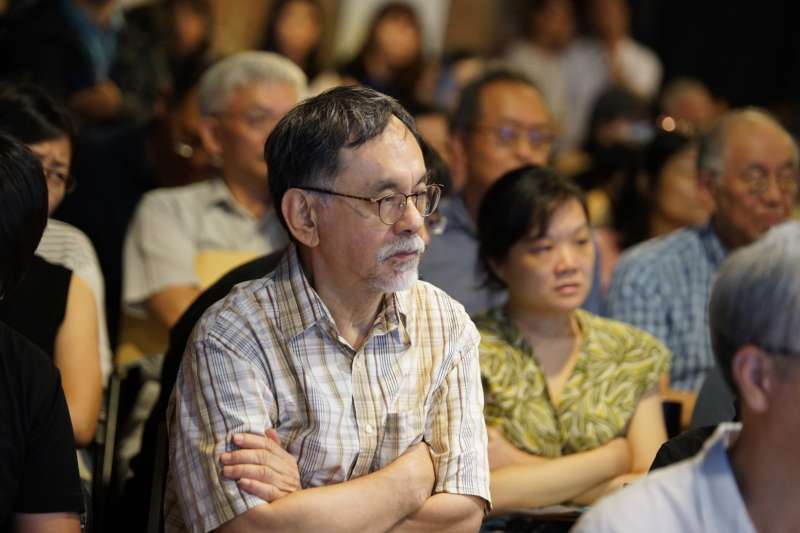 20190810-思沙龍「怎麼理解這個中國?從近世歷史看中國的內與外」,前立委林濁水出席。(盧逸峰攝)
