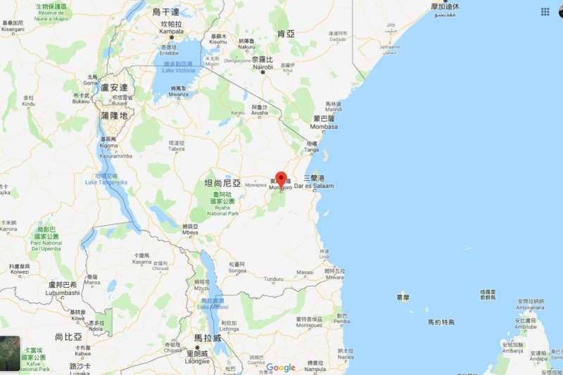 坦尚尼亞油罐車化為熊熊大火,奪走62條人命(Google Map)