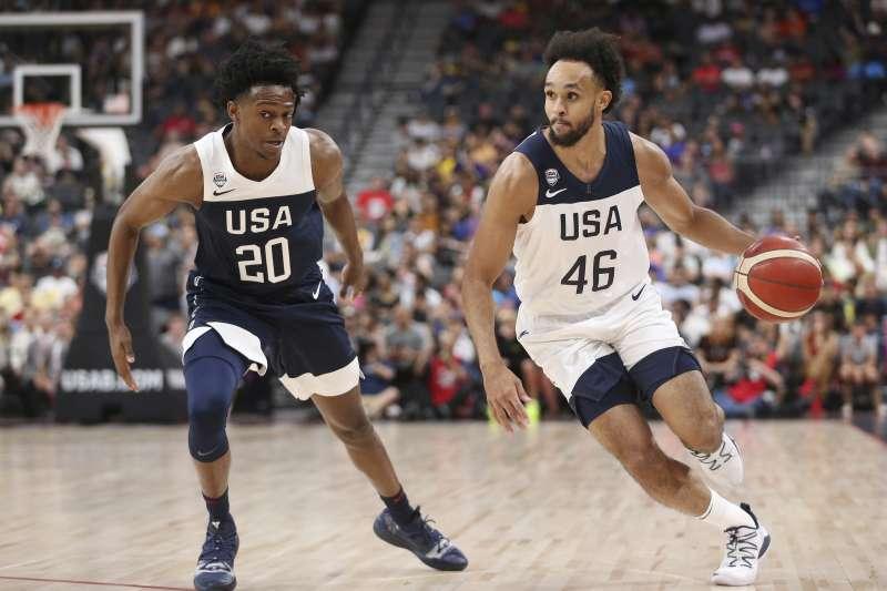 美國隊17人名單在昨日正式出爐,原本在選拔隊的懷特(右)與巴格利都被拉上大名單。 (美聯社)