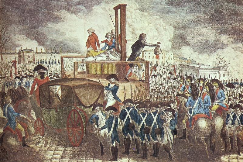 法王路易十六上斷頭台被處以死刑。(圖/wikipedia)