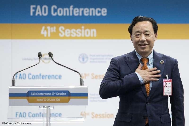 聯合國糧農組織(FAO)新總幹事由中國農業農村部前副部長屈冬玉當選(翻攝FAO官方臉書)