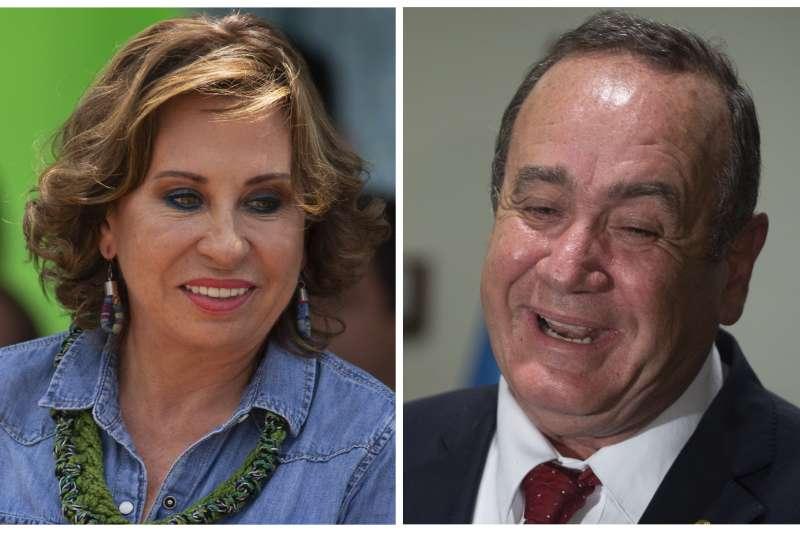 瓜地馬拉總統大選:賈麥岱(右)擊敗朵雷斯勝選(AP)