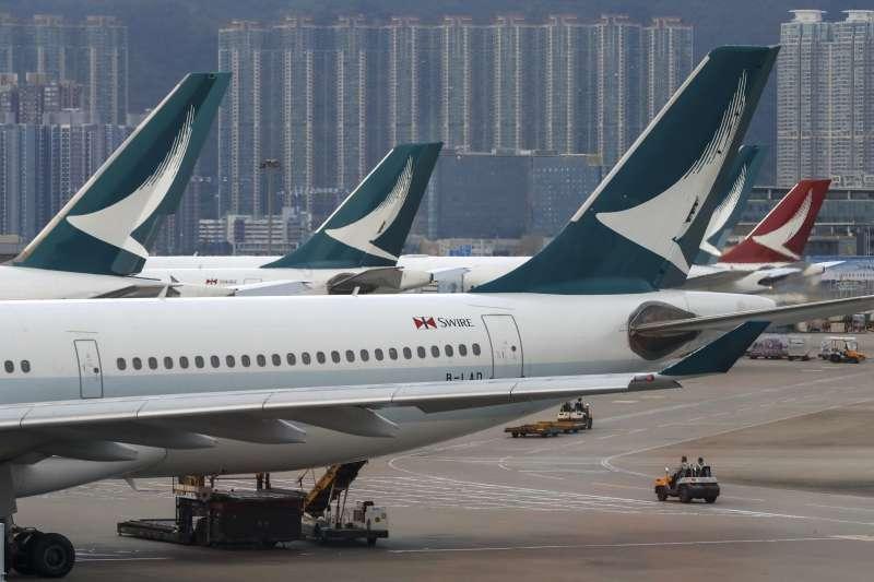 日前有民眾在臉書發文指出,在桃園機場搭乘國泰航空時,被要求簽署類似「一個中國」旅遊史同意書,引發關注。(資料照,美聯社)