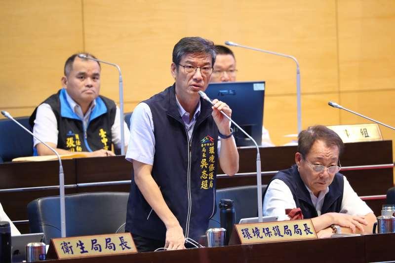 針對議員提出大里一家醫療廢棄物處理公司傳出空汙問題,台中市環保局長吳志超表示,已經進行處理。(圖/臺中市政府提供)