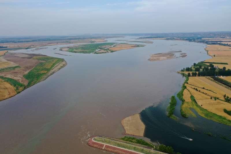 河南省鞏義市的黃河與伊洛河交匯處(新華社)