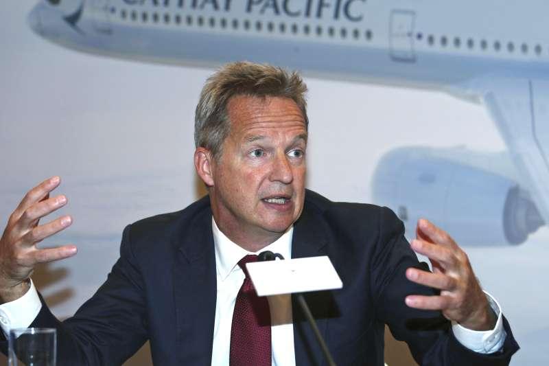 國泰航空行政總裁何杲疑似因香港「反送中」運動受北京施壓,於8月16日辭職。(AP)