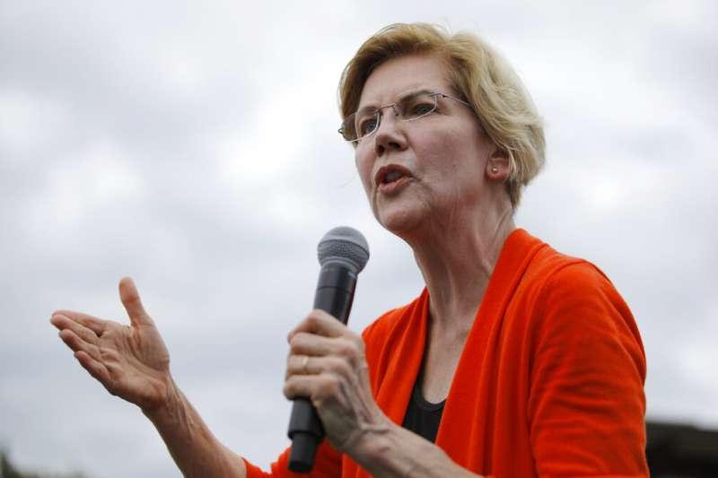 美國民主黨2020總統參選人、麻州聯邦參議員華倫。(AP)