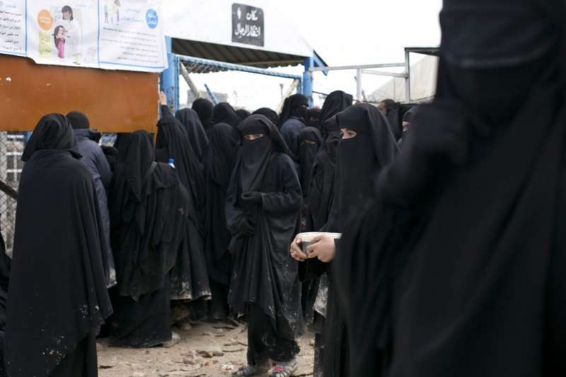 敘利亞哈爾難民營收容7萬餘人,超過1萬人是前IS成員和其家屬。(AP)
