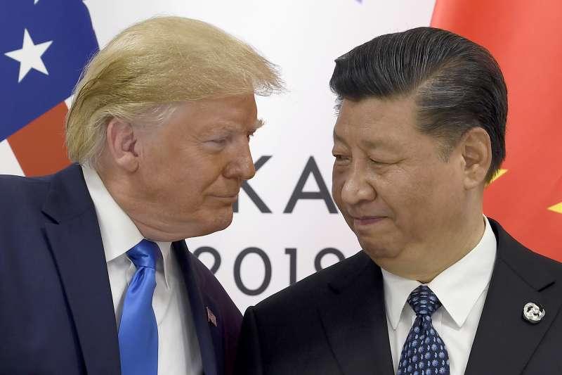 中美貿易戰:川普與習近平(AP)