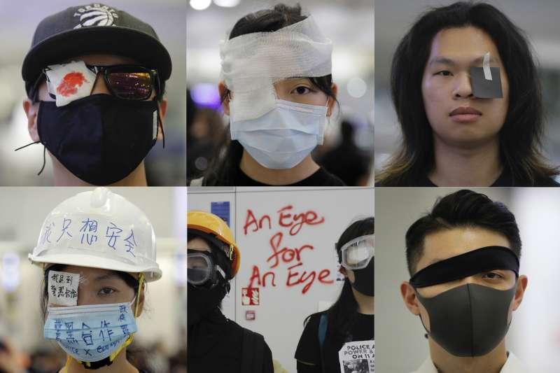 香港反送中運動,港警射爆一名少女右眼,引發各界強烈抗議(AP)