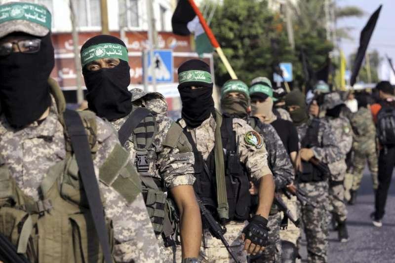 巴勒斯坦激進組織「哈瑪斯」旗下武裝組織「卡薩姆旅」(美聯社)