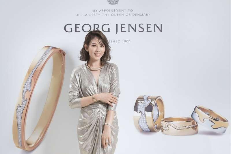 GEORG JENSEN_時尚女星Melody優雅演繹FUSION珠寶(圖/喬治傑生 提供)