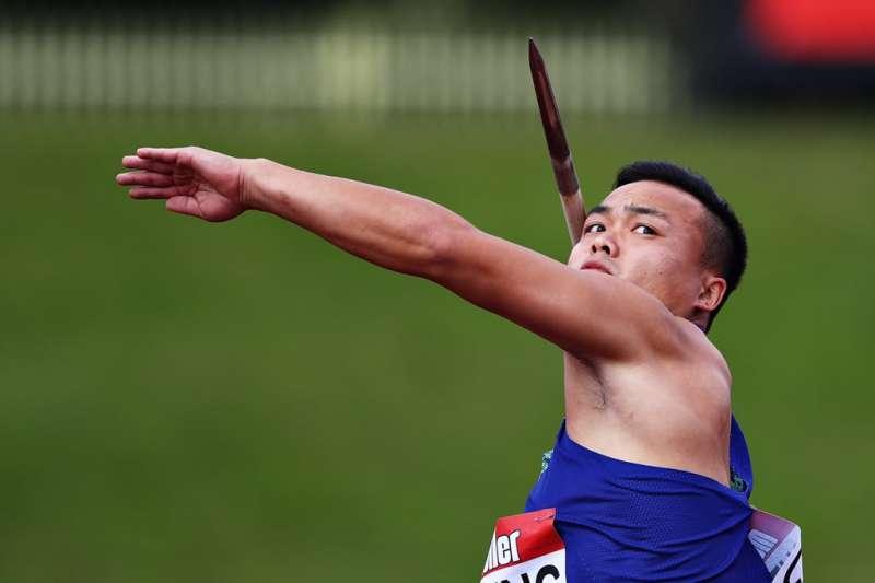 鄭兆村在伯明罕田徑鑽石聯賽伯明罕田徑鑽石聯賽奪下標槍金牌,為我國史上第一人。 (圖片取自IAAF推特)