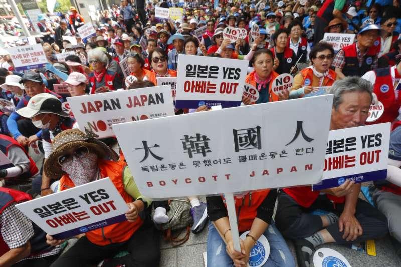 日韓貿易戰讓南韓掀起一股反日風潮。(美聯社)