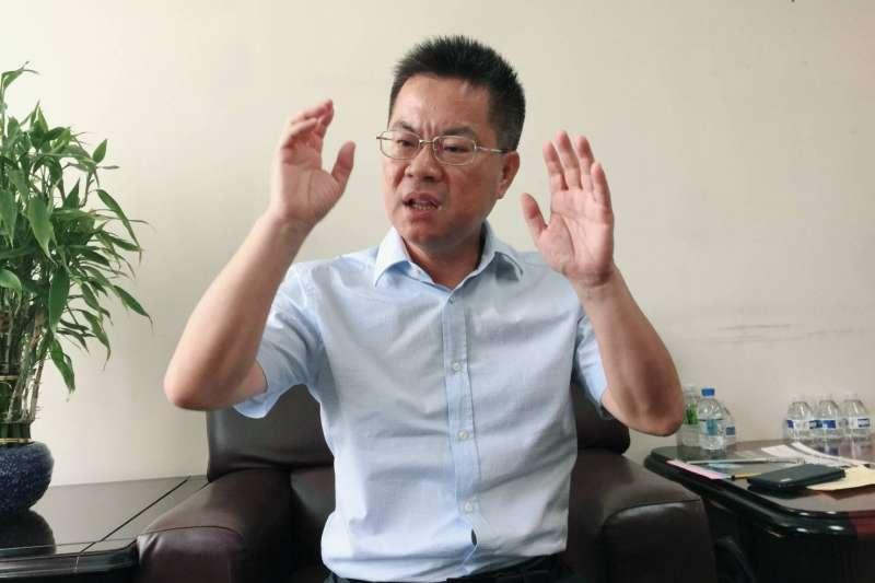 林國正政治資歷豐富,期望為韓國瑜扮演好「軍師」角色。(圖/徐炳文攝)