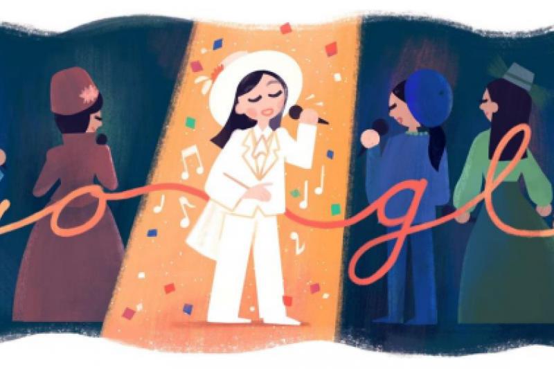 8月20鳳飛飛冥誕,谷歌(GOOGLE)特別將全球十多個國家的搜尋首頁標誌(DOODLE)設為這位傳奇歌手的圖樣
