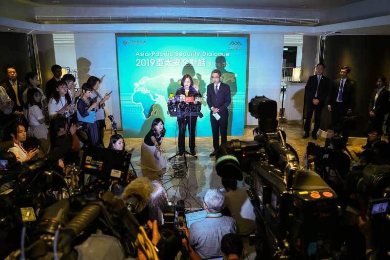 20190820-總統蔡英文20日出席「凱達格蘭論壇:2019亞太安全對話」。(顏麟宇攝)