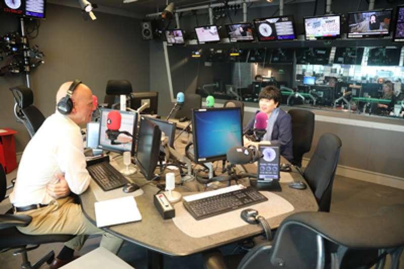 中國駐英公使陳雯接受英國廣播公司(BBC)節目訪談。(圖/取自中國駐英大使館網站)