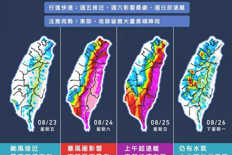 白鹿颱風預料將來的快、去得也快(天氣風險提供)