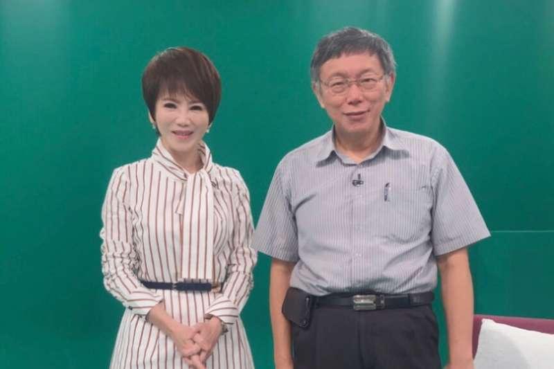 20190823-台北市長柯文哲(右)接受壹電視《十點上新聞》專訪。(壹電視提供)
