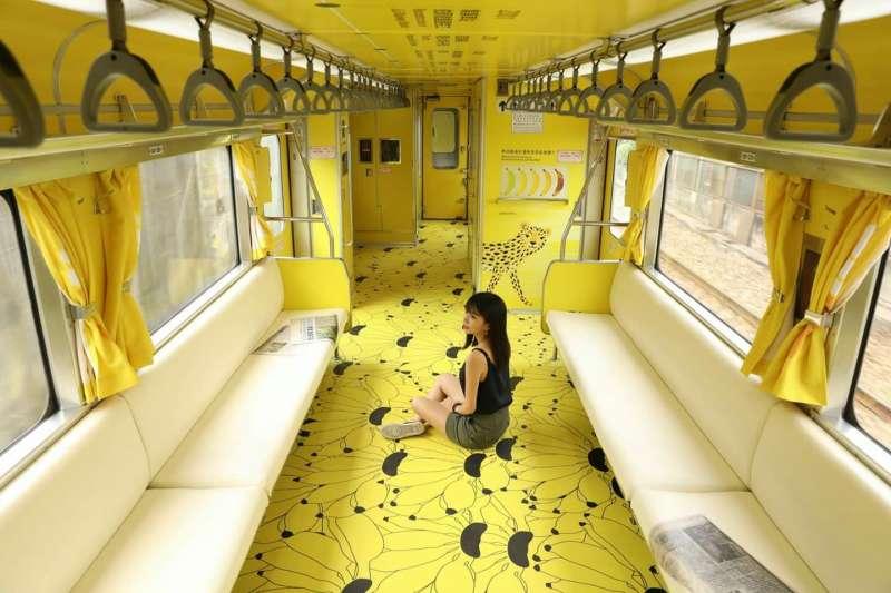 交通部觀光局斥資打造集集彩繪列車,卻先是被發現字體侵權,接著「不像石虎的石虎」圖案也被發現是從國外圖庫買來的,筆者認為此行為與論文抄襲無異。(資料照,取自江孟芝臉書)