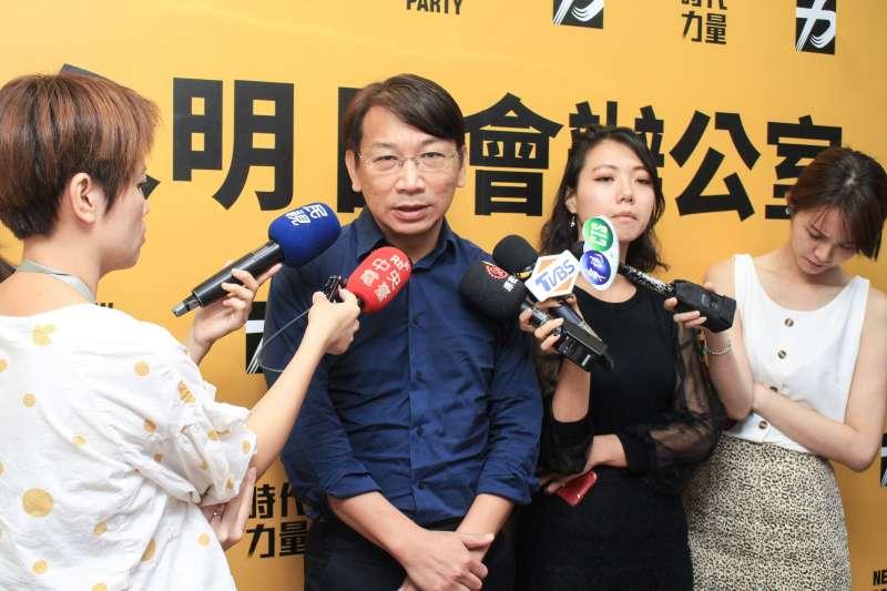 20190823-時代力量主席徐永明23日招開記者會。(蔡親傑攝)