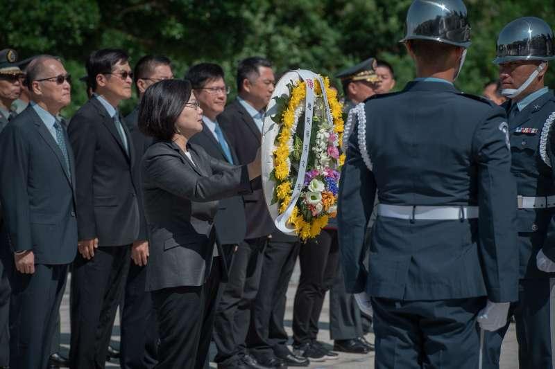 20190823-總統蔡英文23日出席八二三61周年中樞紀念儀式。(取自總統府@Flickr)