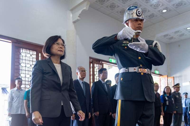 總統蔡英文23日出席八二三61周年中樞紀念儀式。(取自總統府@Flickr)