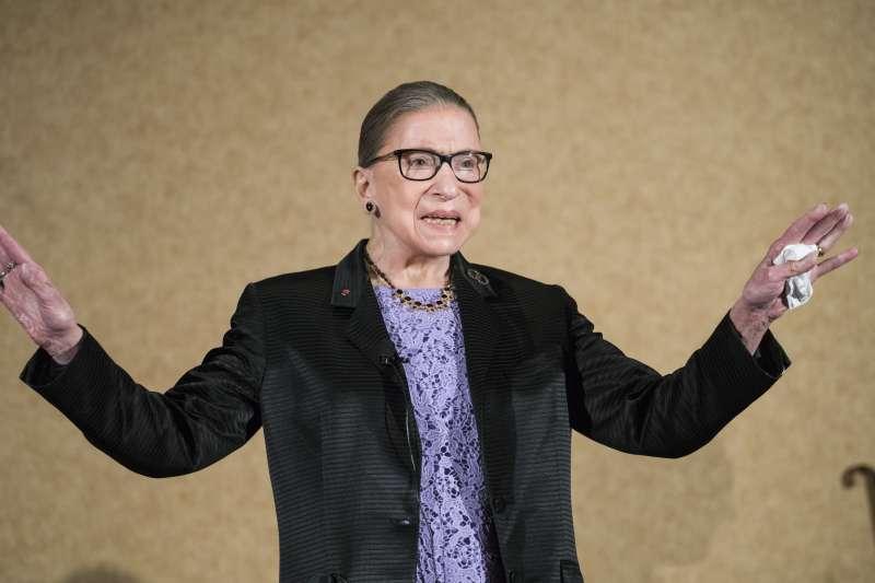 美國聯邦最高法院自由派大法官金斯堡(Ruth Bader Ginsburg)(AP)