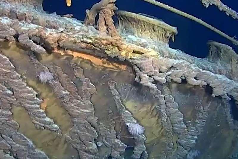 2019年8月,海洋探險專家重訪鐵達尼號殘骸(AP)