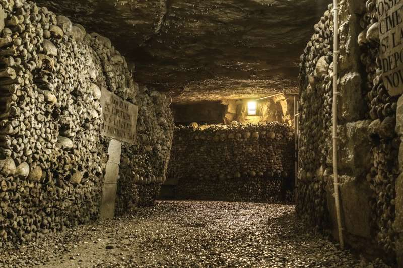 巴黎地下墓穴。