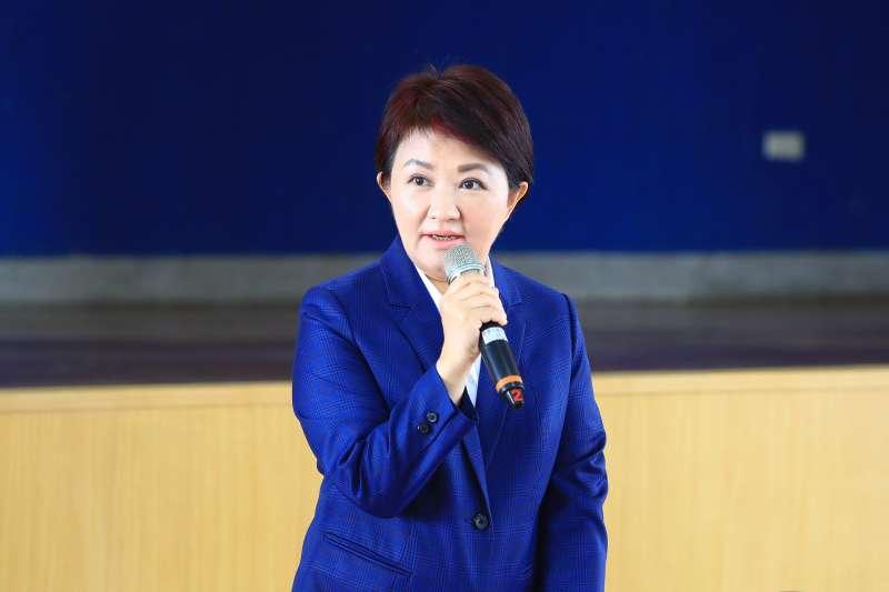 台中市長盧秀燕27日於市政會議上公布上任以來第一次人事局部改組。(取自台中市政府網站)