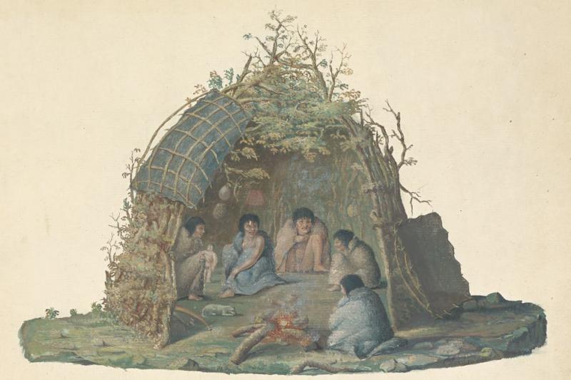 歐洲人的出現為大溪地帶來新物品和疾病。圖為火地群島的小屋居民。(左岸文化提供)