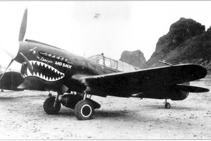 烏班諾維在中國時駕駛的P-40K戰鬥機,他在南昌上空的卓越表現,證明即便是在遠東戰場,也能看到波蘭飛行員的英姿。(許劍虹提供)