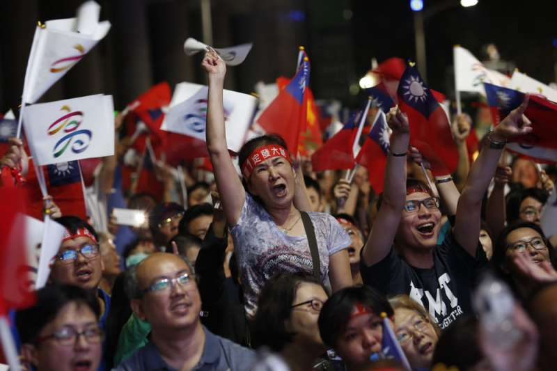 韓國瑜因素是年輕人自去年九合一大選後湧出的亡國感來源之一。(郭晉瑋攝)