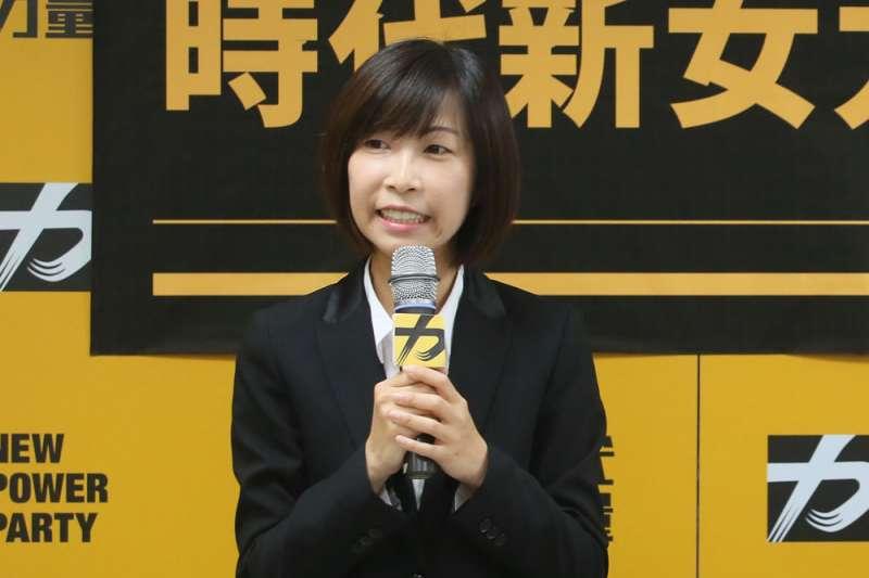 台北市信義區時力參選人陳雨凡表示已和民進黨的許淑華協調好,將進行整合。(資料照片,柯承惠攝)