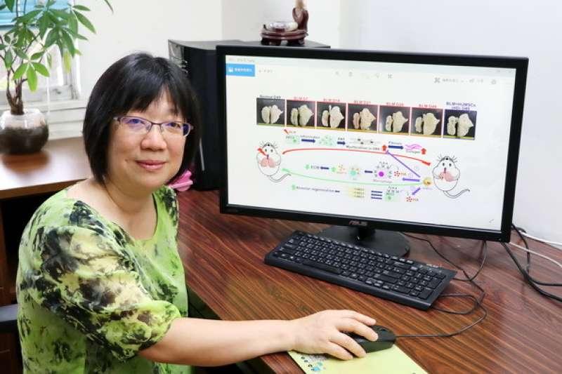 陽明大學、台北榮總、高雄榮總研究團隊耗時3年,發現在人類臍帶中的間質幹細胞,竟能在短短1個月內逆轉肺纖維化。圖為參與研究的陽明大學醫學系教授傅毓秀。(取自陽明大學網站)