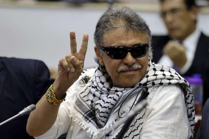 哥倫比亞前叛軍「哥倫比亞革命武裝力量人民軍」(FARC)的領導人赫南德茲(Seuxis Hernandez)(AP)