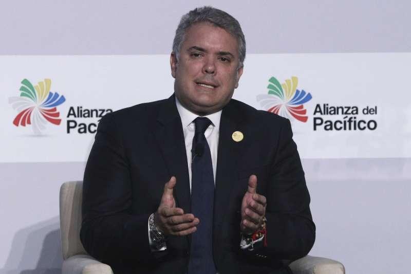 哥倫比亞總統杜克(Ivan Duque)的領導人(AP)