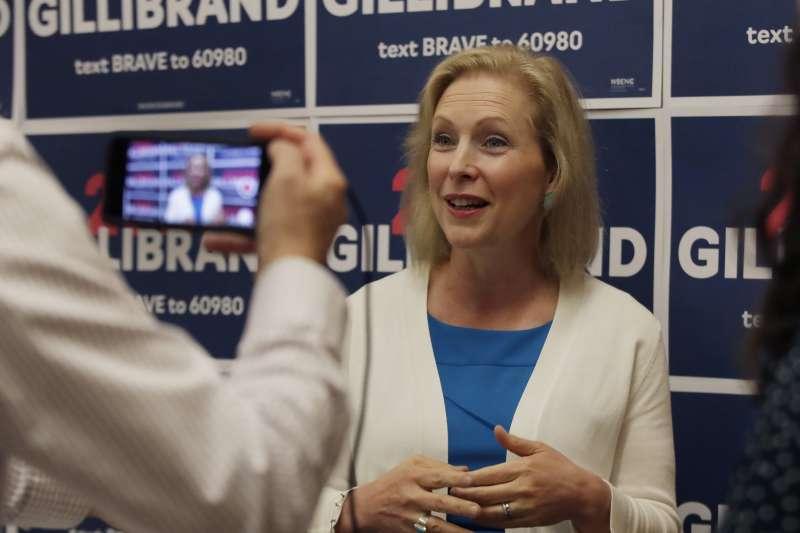 美國民主黨紐約州參議員陸天娜,宣布退出總統初選。(AP)