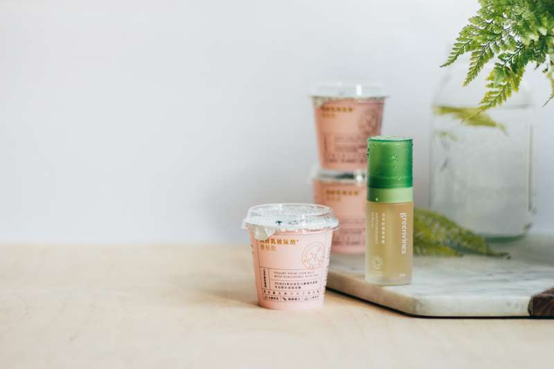 台灣純淨保養品牌「綠藤生機」攜手「鮮乳坊」跨界合作,推廣肌膚保養新觀念(圖/綠藤生機 提供)