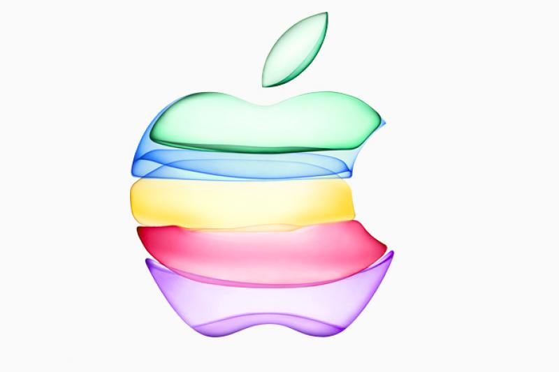 蘋果30日正式發出秋季邀請函,以五色蘋果為此次發表會主視覺。(翻攝 蘋果官網)