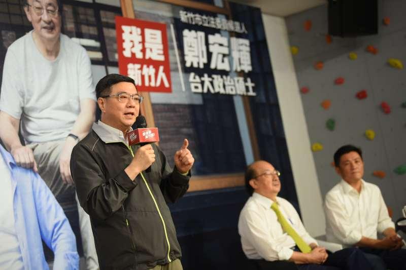 20190831-民進黨主席卓榮泰31日上午出席民進黨候選人鄭宏輝競選辦公室成立茶會。(民進黨提供)