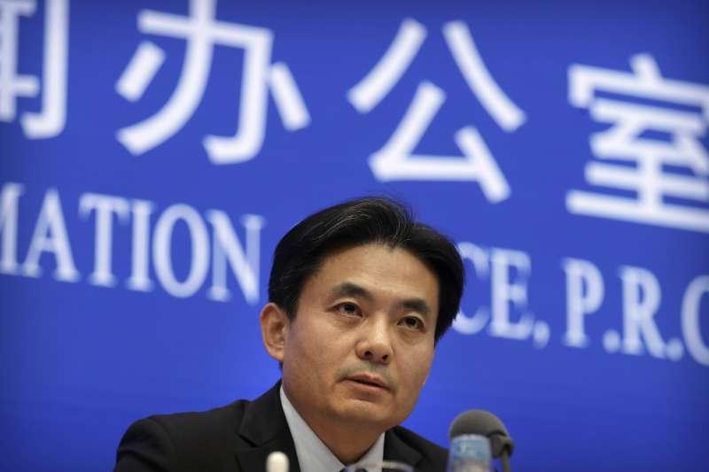 香港反送中:中國港澳辦發言人楊光(AP)