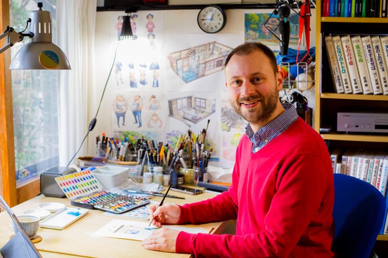 波蘭插畫家Mateusz Urbanowicz原來主修電子工程(圖/DC FILM SCHOOL)
